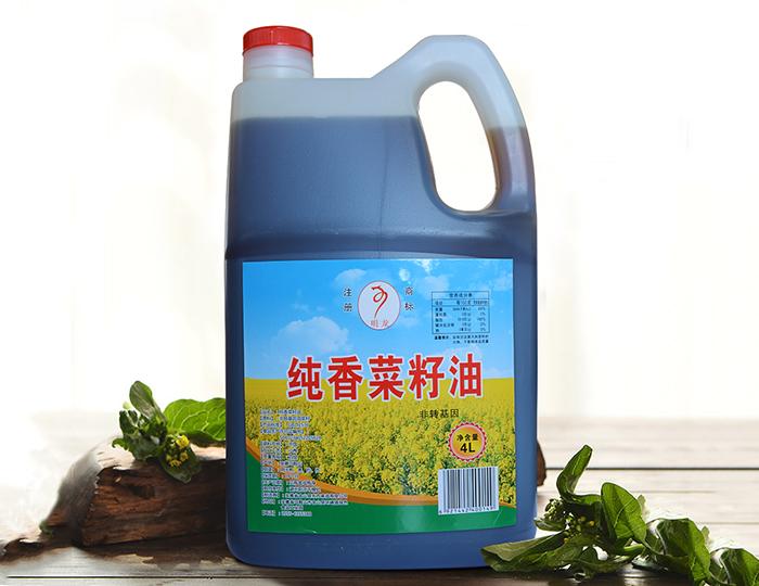 明龙纯香菜籽油4L